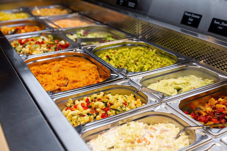 Salatbar und Convenience Truhe